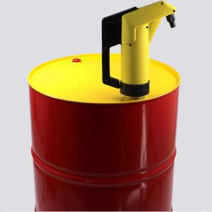 Chemie-Handpumpe gelb für Säuren und Laugen, Vitondichtung