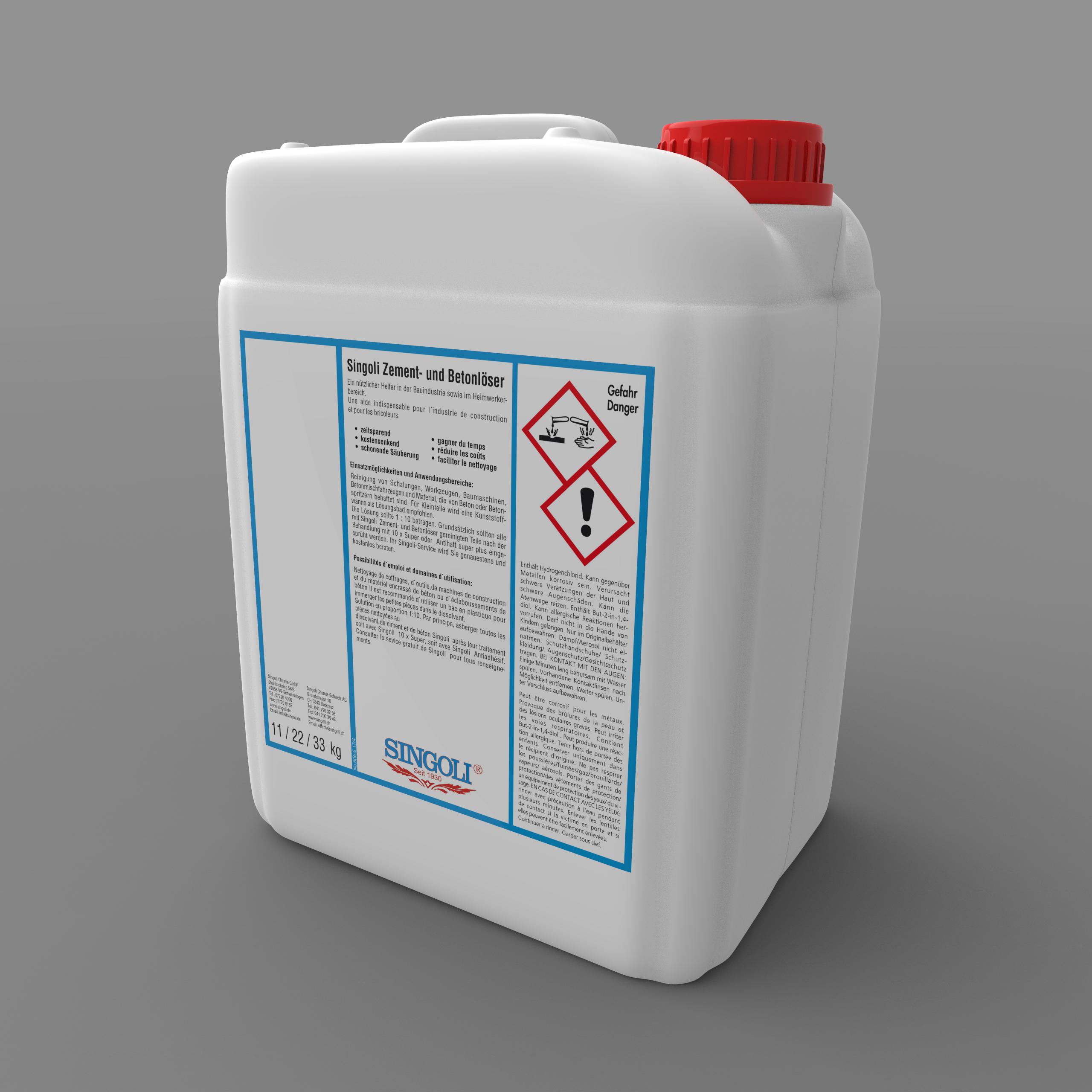 Zement Und Betonlöser Singoli Chemie GmbH - Zement entfernen fliesen